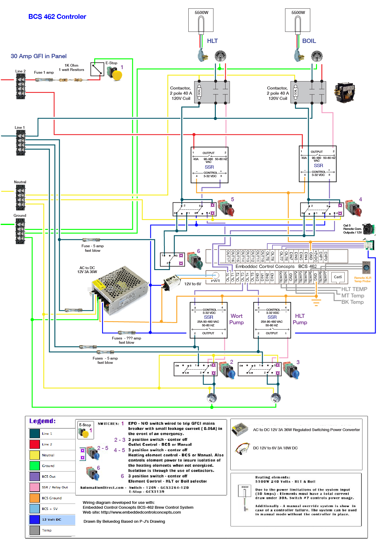 Wiring Check Bcs 462 Ecc Forum A Switch And Schematic In Same Box